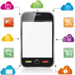 Smartphone. Eps10 vector.