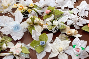 Many little wedding beautiful boutonniere