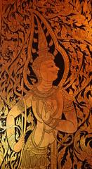 Mural Thai style on temple