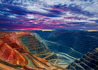 Super Pit open cut gold mine ,  Kalgoorlie Western Australia