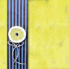 yellow background with lemon slice