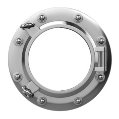 3d Porthole in Stainless Steel