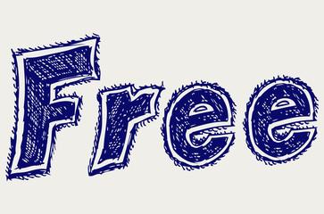 Free sticker. Sketch
