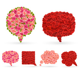 Wall Mural - Set of rose bubbles for speech.