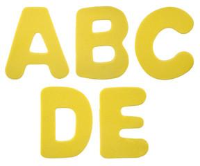 foam plastic alphabet