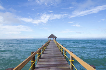 Printed roller blinds Pier Fijian Jetty