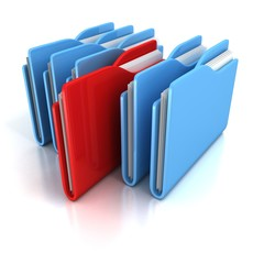 document office folders on white background