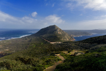 Beautiful view of Cape of Good hope and ocean, South Africa