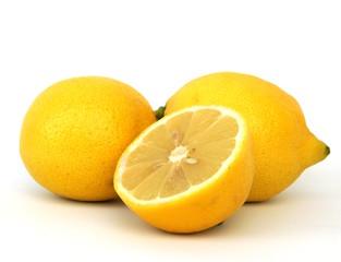 Fototapeta premium Cytryny na białym tle