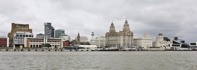 A View of Liverpool and the Mersey River