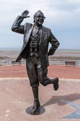 Eric Morecambe statue - Morecambe Prom