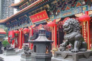 Foto op Aluminium Hong-Kong temple à hong kong