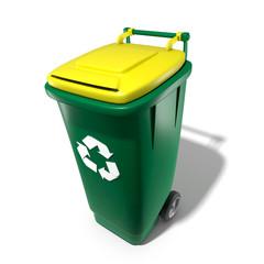 Poubelle recyclage jaune