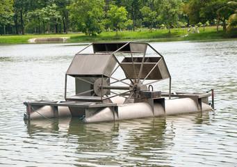 The Turbine water on pond