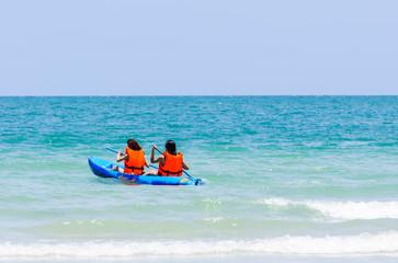Sea kayak in thai ocean