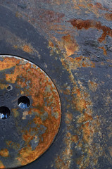 Rusted oily cover