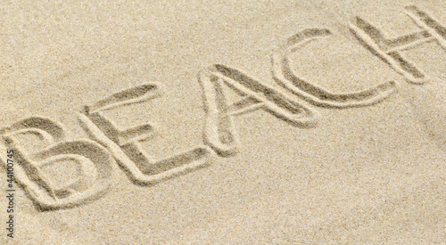 Lettres Tracées Dans Le Sable Stock Photo And Royalty Free