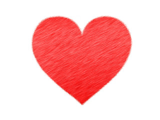 The texture of the heart in the style