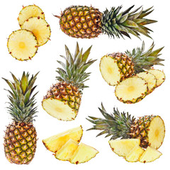 Set of pineapple
