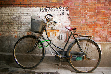 Old bicycle in China