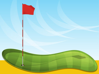 Golf Flag Background