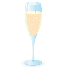 Two champagne glasses vector illutration