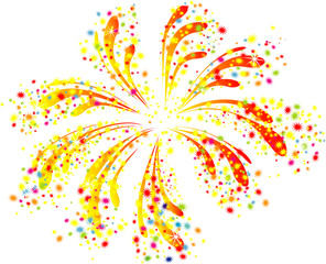 Brightly colorful vector fireworks i