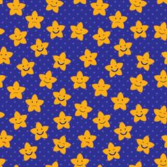 Cartoon Stars Seamless Pattern