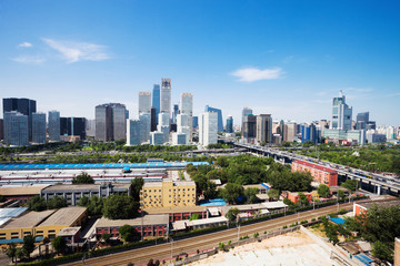 Fotobehang Beijing landscape of modern city ,beijing