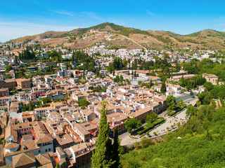 Roofs of Albaicin, Granada, Spain from Alhambra