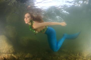 Meerjungfrau Unterwasser