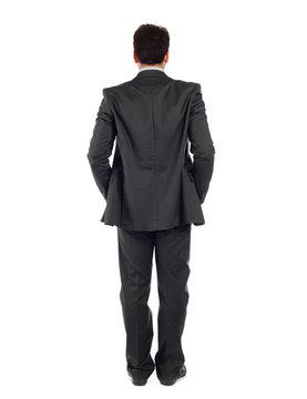 Uomo d'affari di spalle