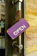 Hang tags open