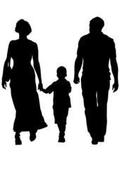 Family on roud