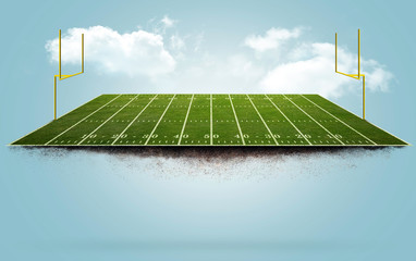 Floating Football field Wall mural