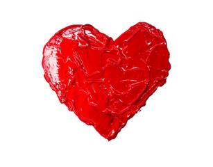 Red heart love. Art oil(acryl) paints.