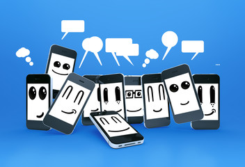mobile phones smileys