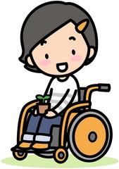 車椅子の女の子