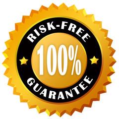 Risk free guarantee label