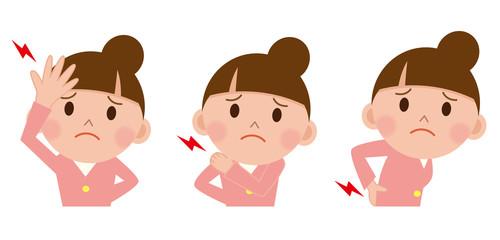 女性 頭痛 腰痛 肩こり