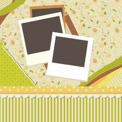 Abstract banner retro card vector eps 8