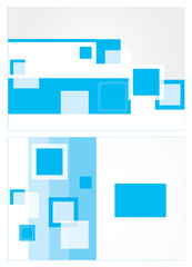 Abstract blue brochure design with rectangular elements