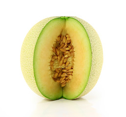 cantaloupe melon isolate on white background
