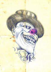 clown, halloween mask