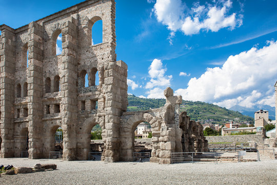 Ancient Theater in Aosta - Italy