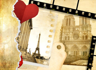 Fotomurales - romantic letters -  from Paris with love