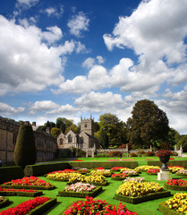 English countryside with Old house, Lanhydrock, Cornwall