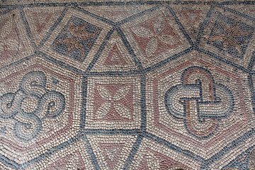 The Ancient Mosaic in Antandrus Ancient City, Turkey.