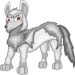 Wolf cartoon vector