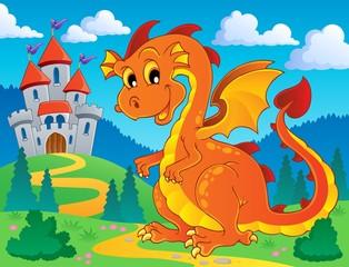 Printed kitchen splashbacks Castle Dragon theme image 9